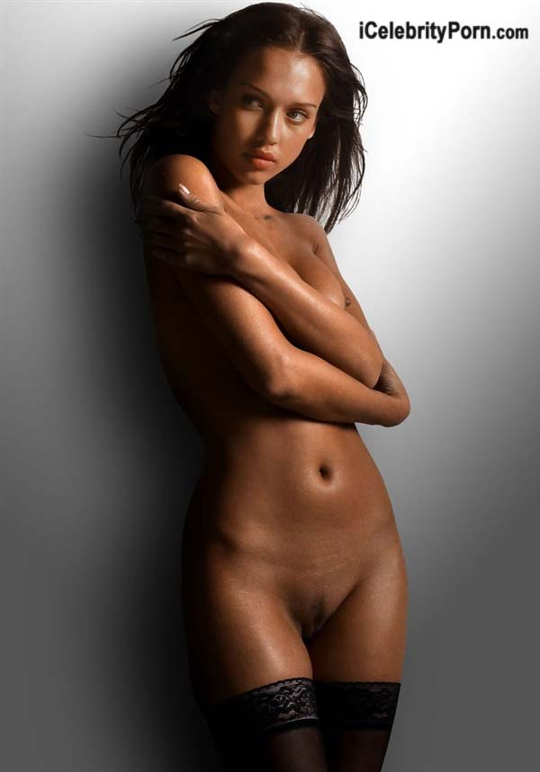 Jessica alba posando desnuda